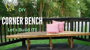 Diy Bench How To Build A Diy Corner Bench For Your Deck Youtube