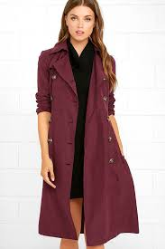new arrivals jack by bb dakota wellington trench coat womens wine red going fast pw75381