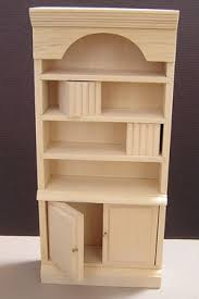 unfinished dollhouse furniture. Picture. Unfinished Bookcase Dollhouse Furniture
