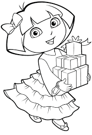 Dora The Explorer Free Coloring Pages Printable Colori Mosshippohaven