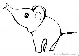easy elephant drawing coloring pages d free elephant coloring pages