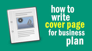 How To Write Cover Page For Business Plan Youtube