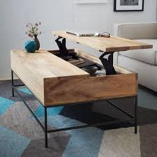 Coffee Tables : Splendid Media Nl Coffee Table With Storage Industrial West  Elm Uk Rustic Base Oversized Living Room Tables Large Square Ottoman ... Images
