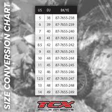Tcx Boots Size Chart Tcx Rt Race