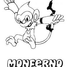 First Rate Chimchar Coloring Pages Ataquecombinado Pokemon Coloring
