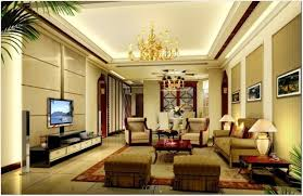 Interior:European Interior With Fancy Coffered Ceiling Design Also Black  Wood Floor Palatial Living Room