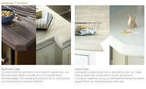 ogee countertop edge which laminates and edges
