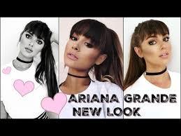 ariana grande makeup tutorial 2016 new bangs full glam look you