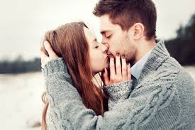 Close Up Of Couple In Love Posing While Kissing Photo Free Download