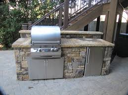 stacked stone grilling stations with refrigerators