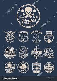 Baseball Design Templates Tshirt Design Templates Colleges Sport Baseball Stock Vector