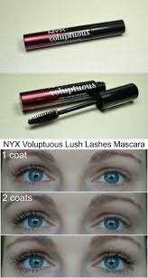 nyx lush lashes voluptuous mascara review and how it looks on my lashes via beautybymissl