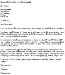 Finance Administrator Cover Letter Example Career Project