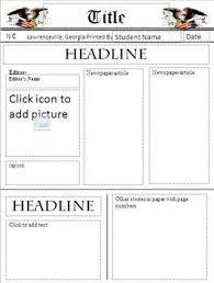 Basic Newspaper Template Newspaper Template Freebie Teacher Stuffs Pinterest Newspaper