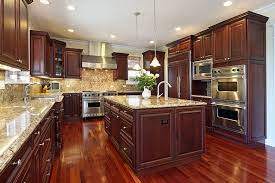 This kitchen cabinet has some warm tones and rich look. 25 Cherry Wood Kitchens Cabinet Designs Ideas Designing Idea