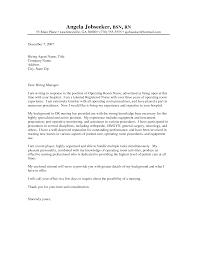 Nursing Cover Letter For Resume Resume For Your Job Application