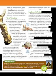 the story of a com studies how people interact animals residents improving their moods relieving their robotic