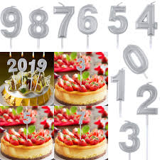 Candle Light Bakery Us 1 16 47 Off Birthday Candle Silver Numeral 0 9 Birthday Numeral Candles Light Home Wedding Birthday Party Decoration Led Cake Candle A30730 In