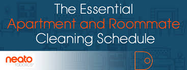 Apartment Chore Chart Essential Apartment And Roommate Cleaning Schedule Neato
