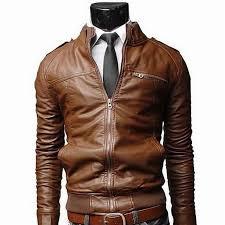 pu leather jacket men long standing collar solid color jackets overcoat men leather jackets male clothing