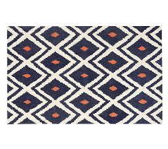 ikat rug 5x8 feet navy orange