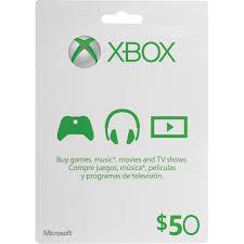 microsoft 50 xbox gift card xbox one