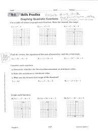 quadratic functions and their graphs worksheet worksheets for all and share worksheets free graphing quadratic equations