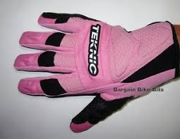 Details About Teknic Female Gloves Pink New Large Motorcycle Motocross Ladies Womens Rrp 59