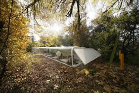 selgas cano architecture office. Clear Glass Walls Of Selgascano Office Near Long Architecture Along Flat Roof Lust Trees Selgas Cano