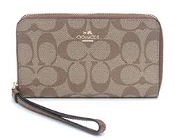 Coach Signature Phone Wallet Wristlet -  F57468