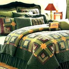 rustic quilts for cabins quilt bedding log cabin sets green twin queen cal king size rustic comforter sets