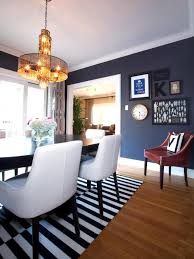 navy blue dining room bringing the picnic scenery inside monochrome elegance 30 black and white striped rugs