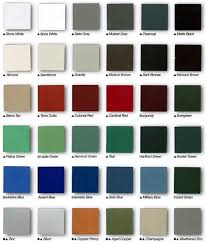 Gutters And Downspouts Colors Chart Rutland Gutter Supply