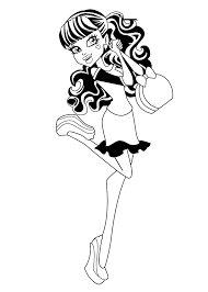 Monster High Coloring Pages Pdf Wumingme