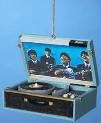 love this beatles replica record player ornament on