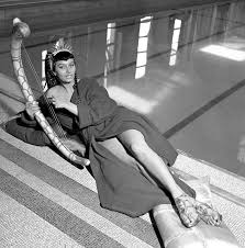 Two Nights With Cleopatra Sophia Loren Black and White.