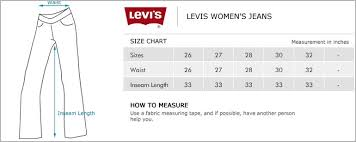 Levis Size Chart For Women S Jeans Levis Size Conversion Chart Www Bedowntowndaytona Com