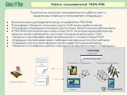 Презентация на тему Автоматизированная система управления  16 Работа пользователей