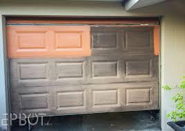 Faux Garage Door Windows Epbot We Faux Painted Our Garage Door