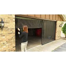 3 zipper garage door screen with rope