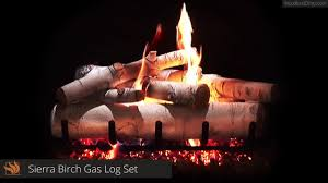 sierra birch vented ceramic gas log set