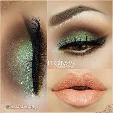pistachio eye makeup