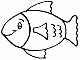 Fish Coloring Page Outline Coloring Pages