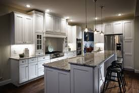 Dark Gray Kitchen Cabinets White Tile Pattern Ceramic Countertops Gray Kitchen Cabinets