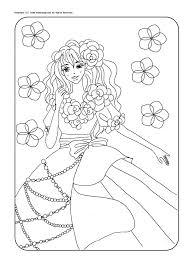 無料ダウンロードお姫様の塗り絵オリジナルイラスト Part4