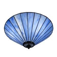 tiffany pendant lights nz. fantastic blue glass shade three lights tiffany semi flush mount ceiling light pendant nz n