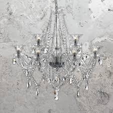 9 light luxury crystal glass chandelier