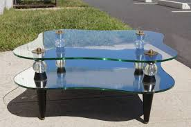 of late art deco mirror and glass coffee table for at 1stdibs bedroom