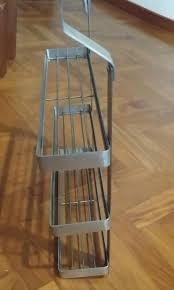 ikea 3 tier metal rack kitchen wall