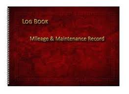 Mileage Book Details About Vehicle Mileage Record Log Book Deep Red Leather Effect A6 A5 Landscape Sizes